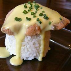 Poached Salmon with Hollandaise Sauce Nobody'sGirl