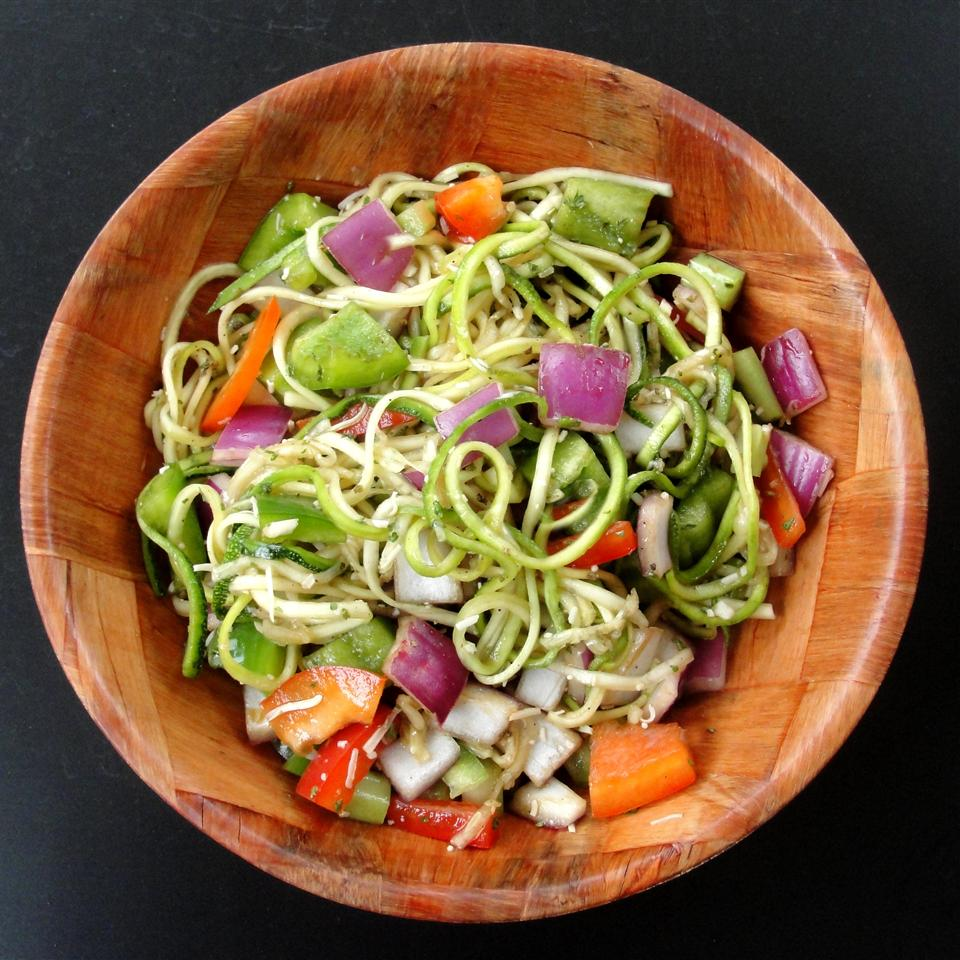 Easy Healthy Zucchini Salad Rock_lobster