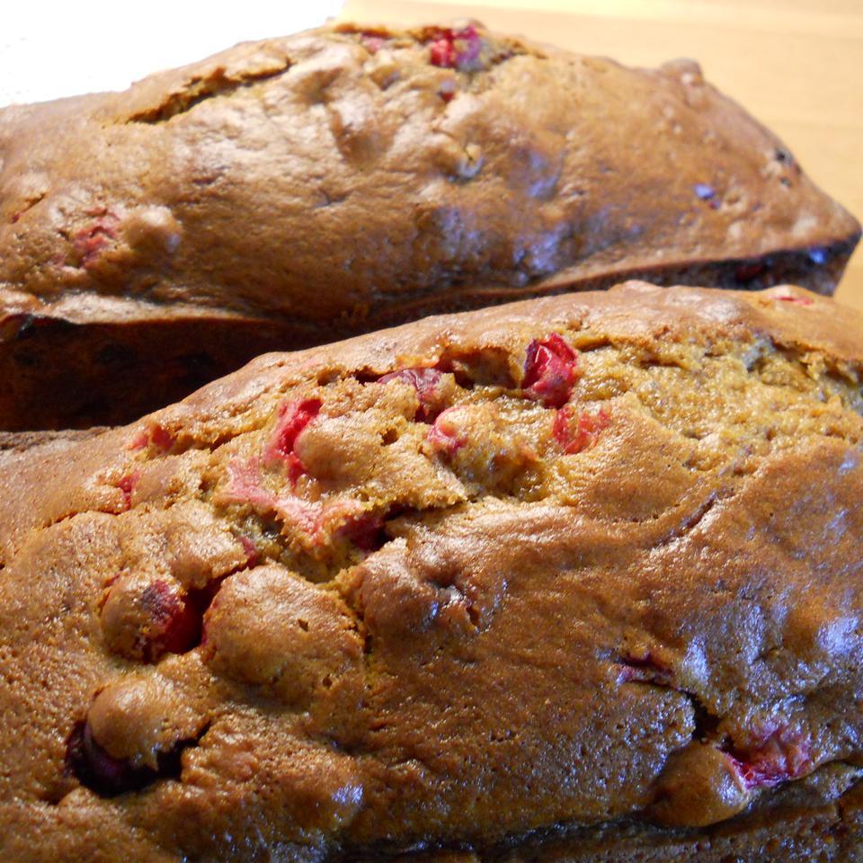 Mom's Fresh Cranberry-Pumpkin Bread