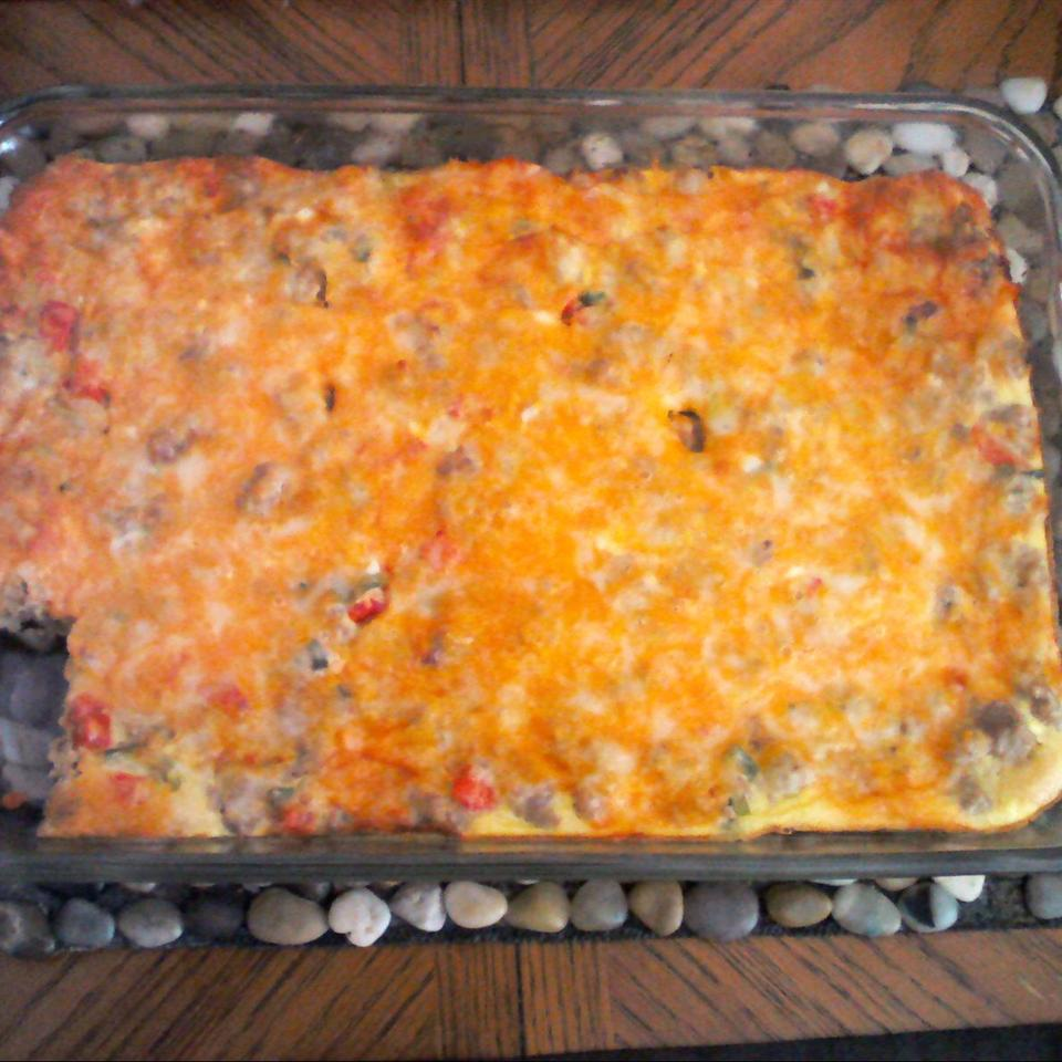 Sausage and Crescent Roll Breakfast Casserole