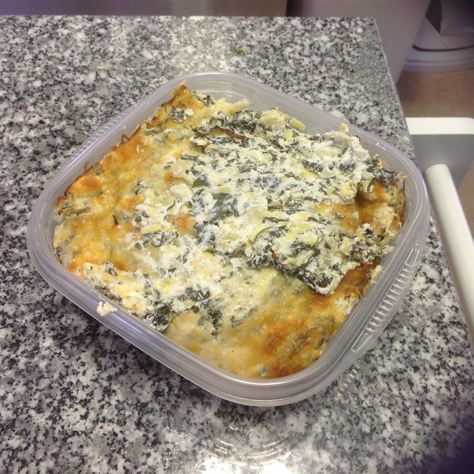 Healthier Hot Artichoke and Spinach Dip II MakeItHealthy