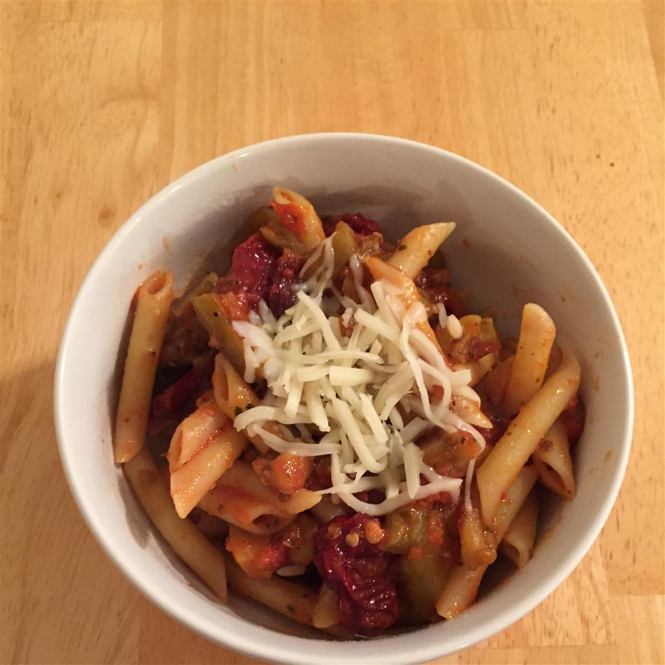 Penne with Eggplant katie