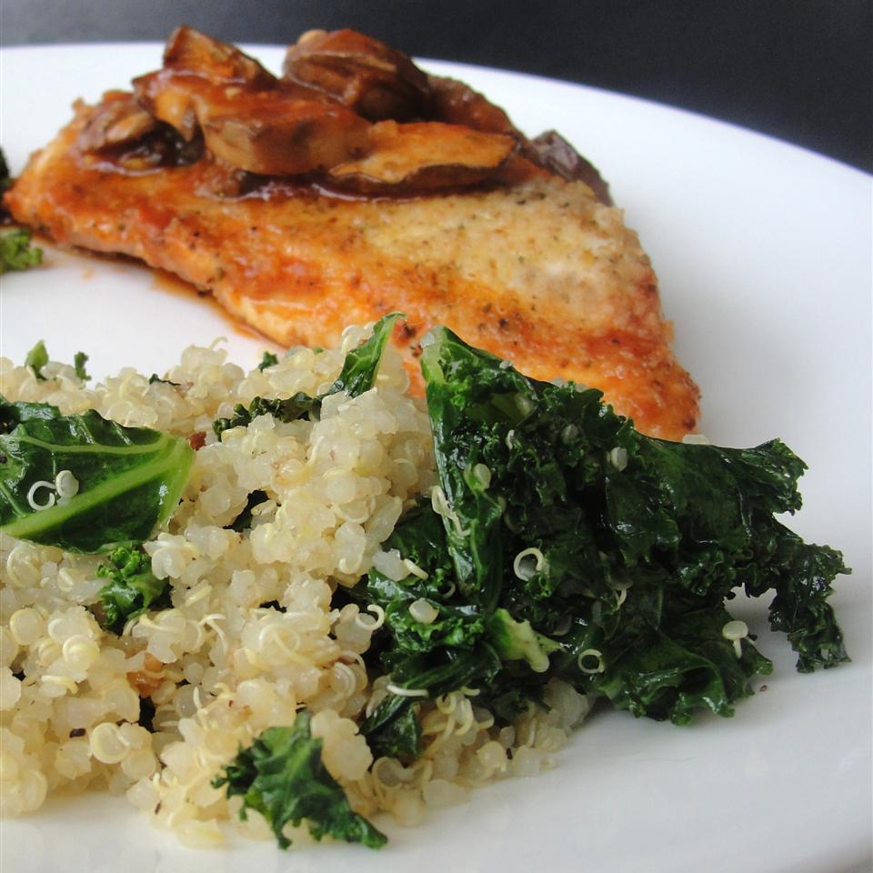 Garlic Kale Quinoa