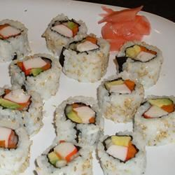 Cucumber and Avocado Sushi gaby