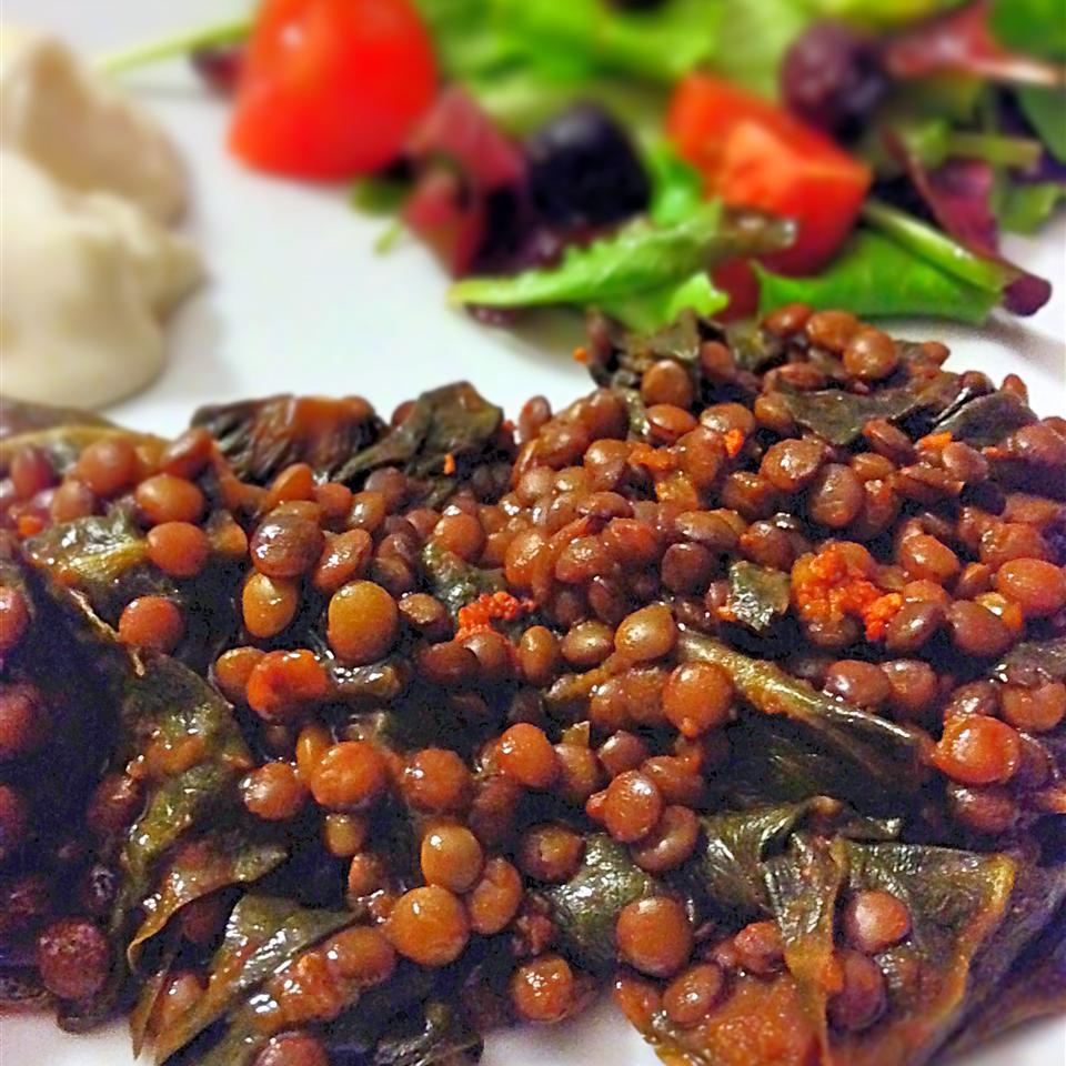 Garlic Lentils with Kale