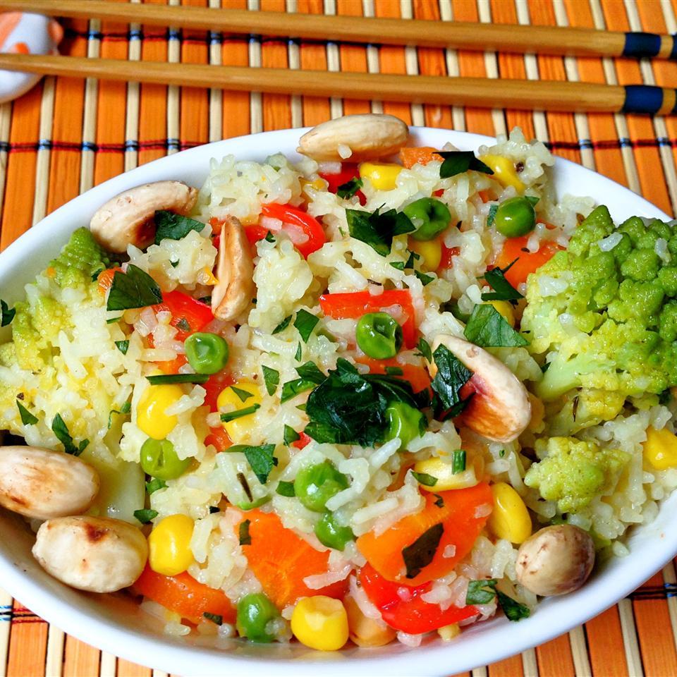 Indian-Style Vegetable Rice Sahana