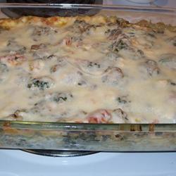 Sausage Spinach Alfredo Lasagna aonanini