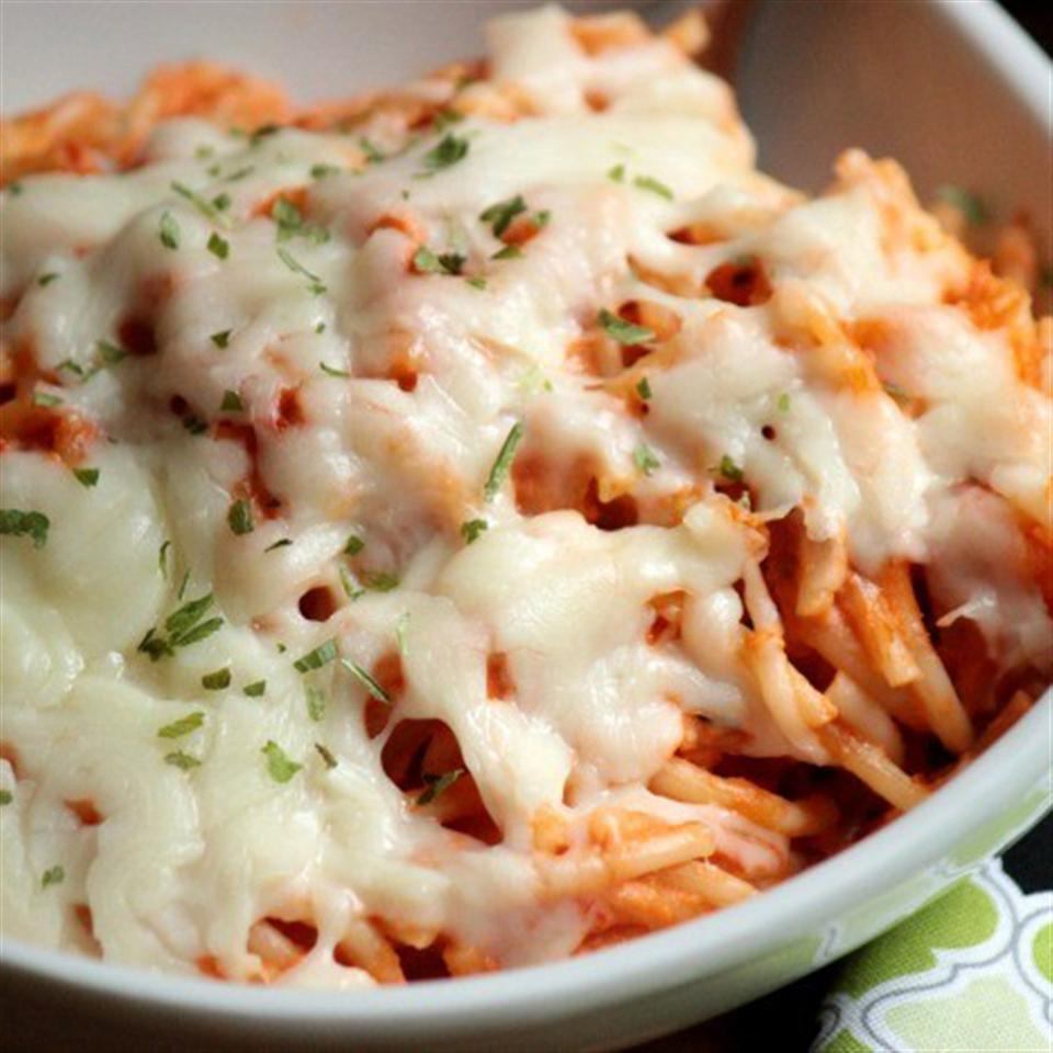 Creamy Baked Spaghetti Trusted Brands