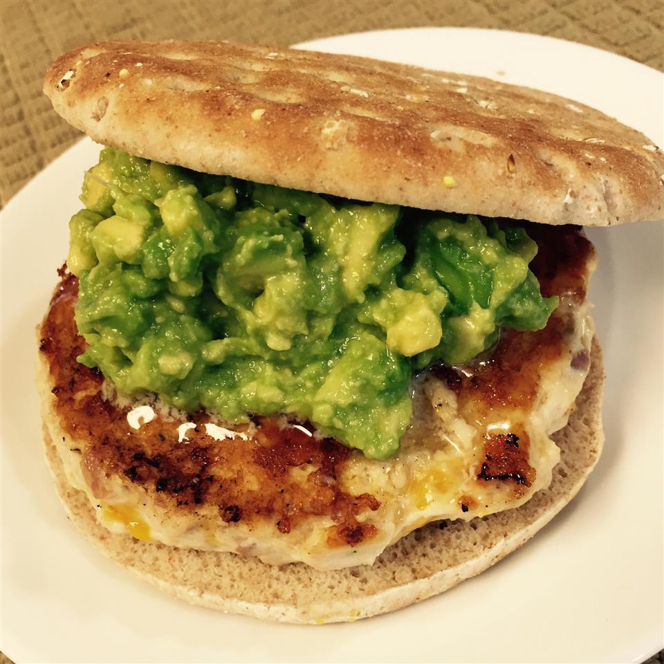Chicken Cheddar and Guacamole Burgers