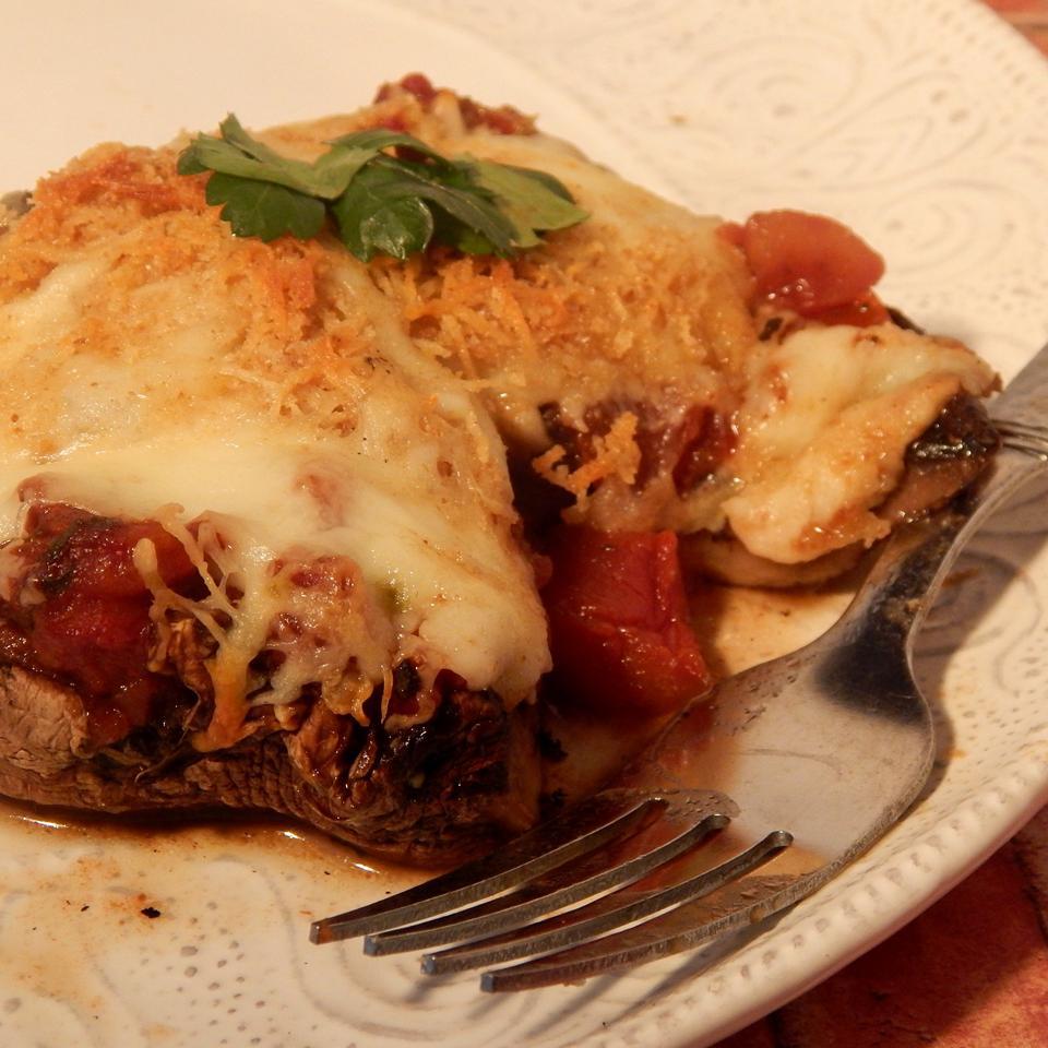 Pizza-Style Portabello Mushrooms Linda T