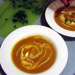 Roasted and Curried Butternut Squash Soup Mlle