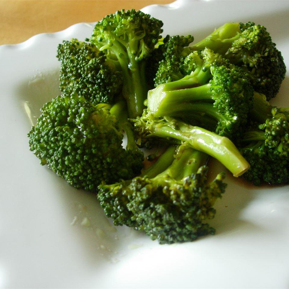 Sesame-Soy Broccoli Florets larkspur