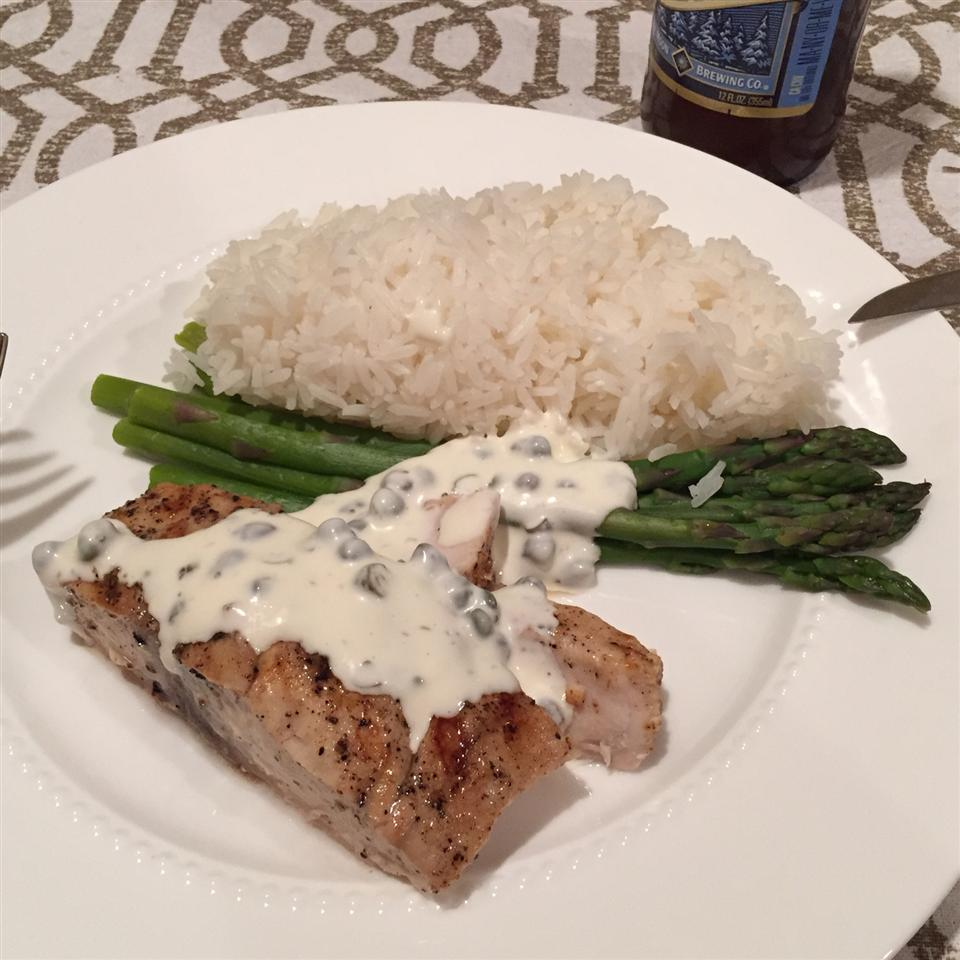 Grilled Mahi Mahi with Lemon Caper Sauce Sean Harrison