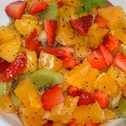 Tangy Poppy Seed Fruit Salad Fit&Healthy Mom