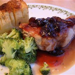 Pork Chops With Black Cherry Sauce followthebeat