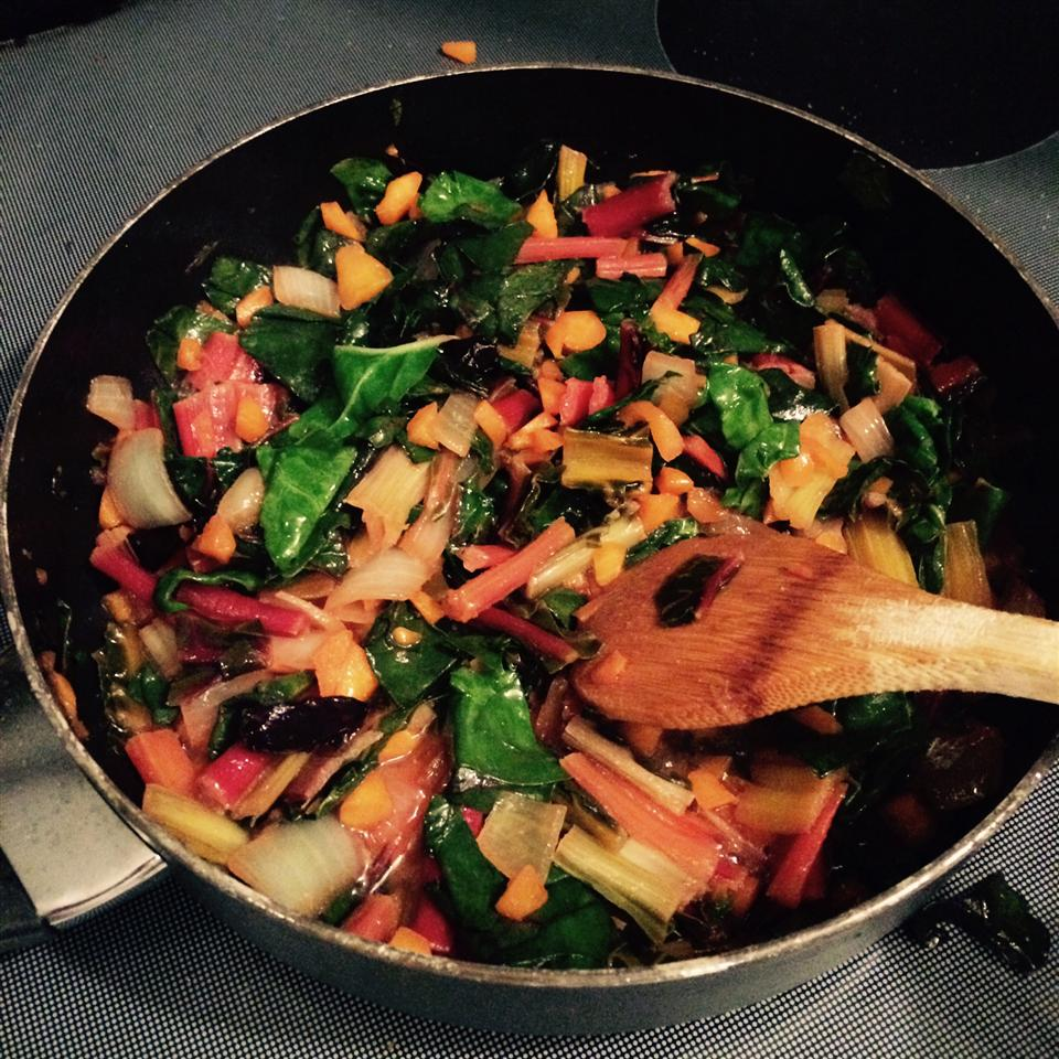 Sauteed Swiss Chard with Parmesan Cheese Ashley Frazier
