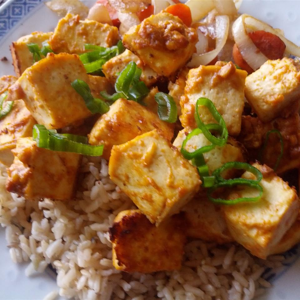 Spicy Baked Marinated Tofu
