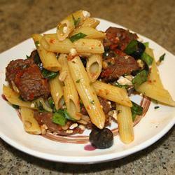 Quick Greek Pasta Salad with Steak Allrecipes Trusted Brands