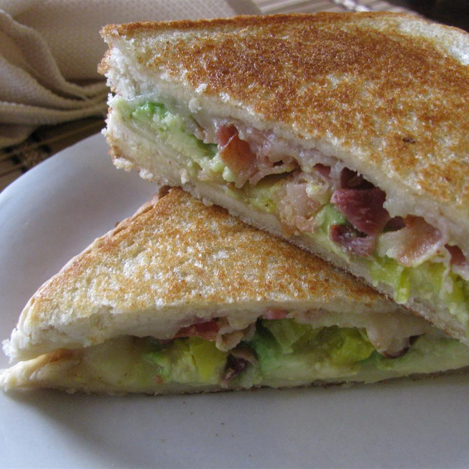 Bacon, Avocado, and Pepperjack Grilled Cheese Sandwich