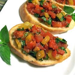 Bruschetta with Roasted Sweet Red Peppers SunnyByrd