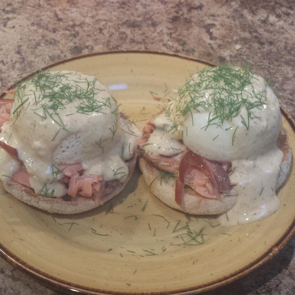 Smoked Salmon Dill Eggs Benedict heathertocci