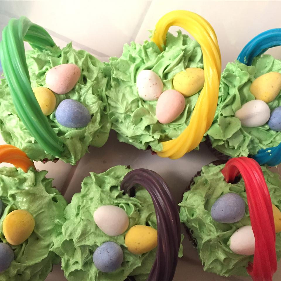 "An Easter cupcake with a surprise egg inside! Melissa raves, ""These are by far the best home made cupcakes I have made in a long while! Usually they come out too dense or heavy these turned out more cake-like but still light moist and delicious!"""