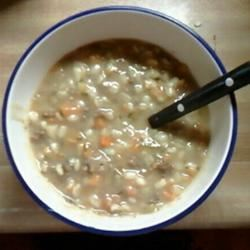 Slow Cooker Beef Barley Soup Tami