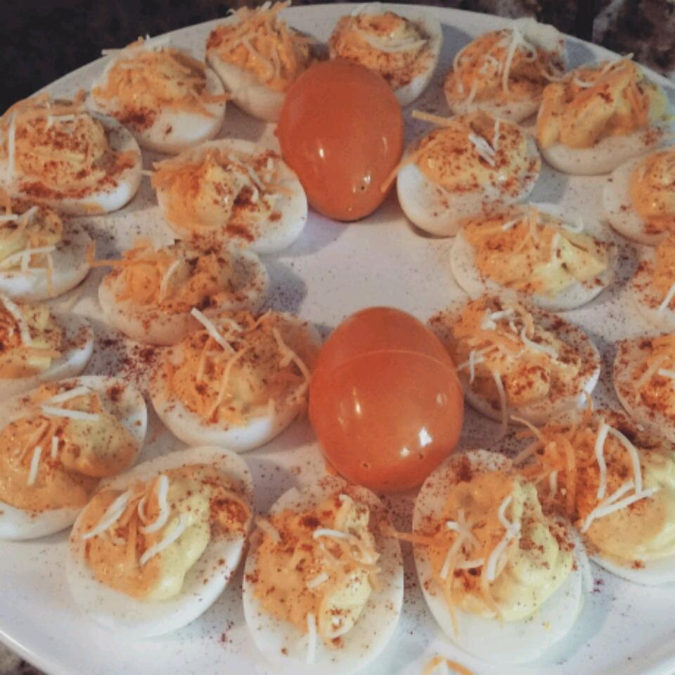 Parmesan-Oregano Deviled Eggs Sarah Clark