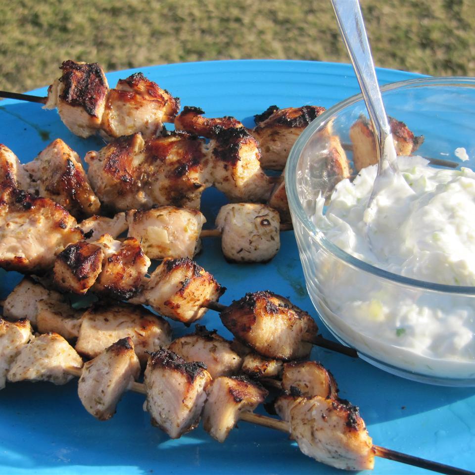 Chicken Souvlaki with Tzatziki Sauce Jennifer Martin