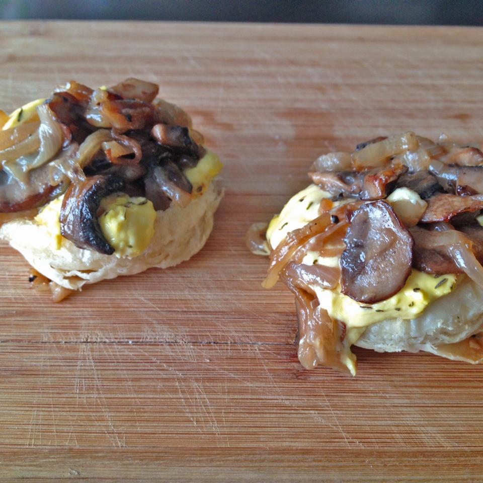 Caramelized Onion and Mushroom Tarte Tatin CoachJen