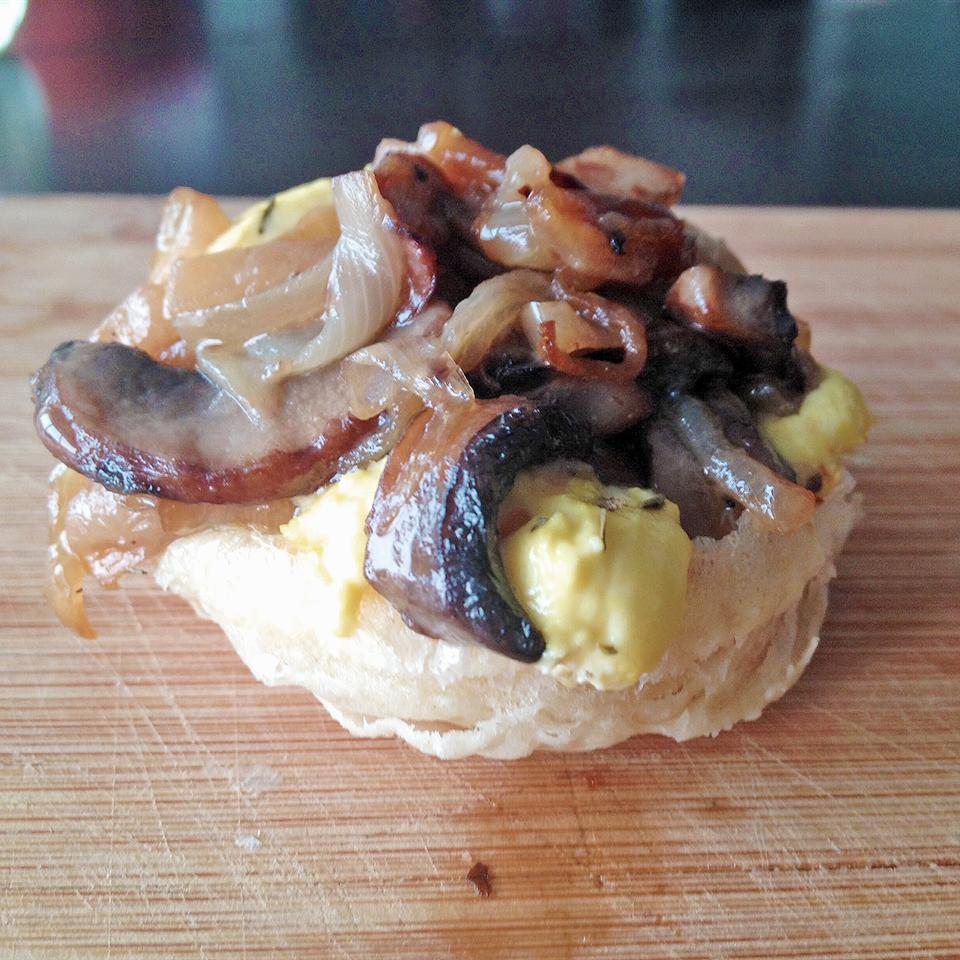 Caramelized Onion and Mushroom Tarte Tatin
