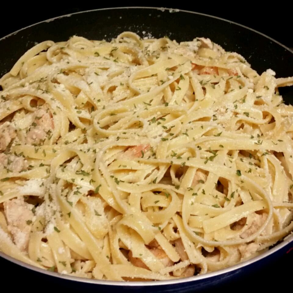 Grilled Shrimp and Chicken Pasta Sonja T