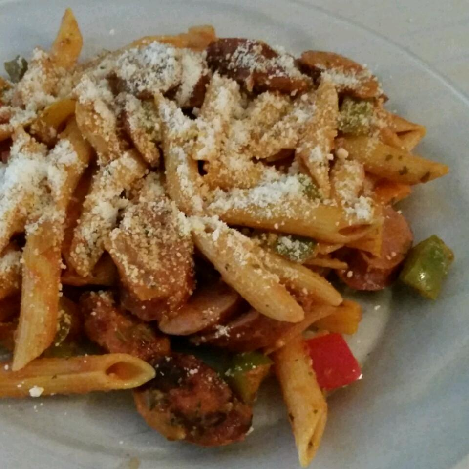 Zesty Penne, Sausage and Peppers DayDay