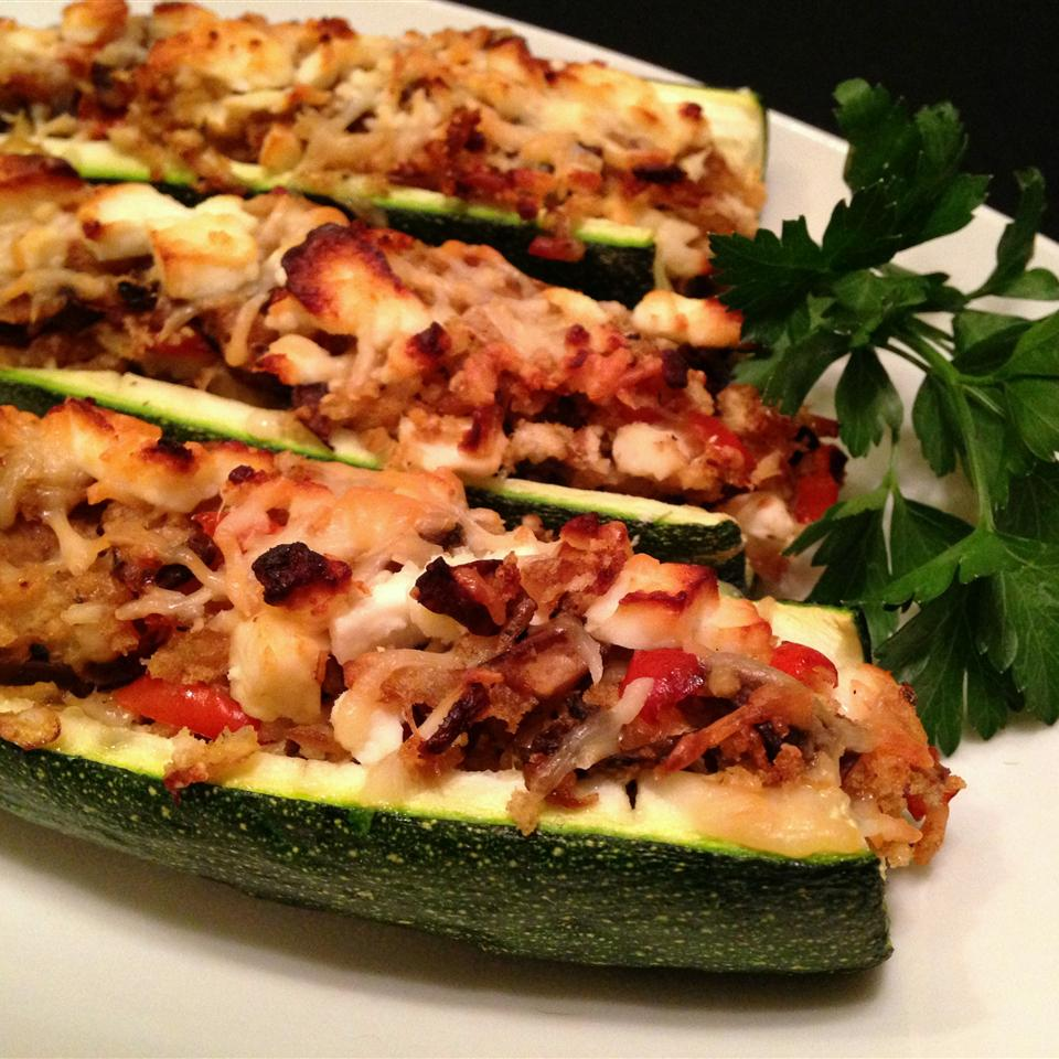 Stuffed Zucchini Shells Happyschmoopies
