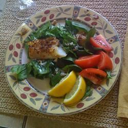 Baked Tilapia in Garlic and Olive Oil