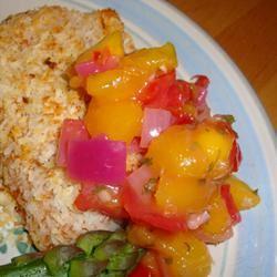 Mango Salsa Salmon