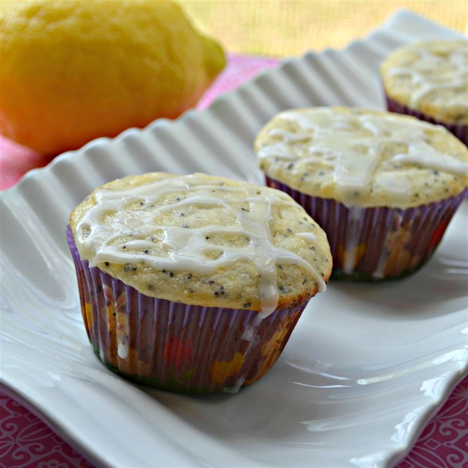 Lemon Poppyseed Muffins with Lemon Glaze