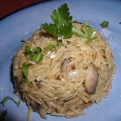 Mushroom Orzo Alida Rovetto