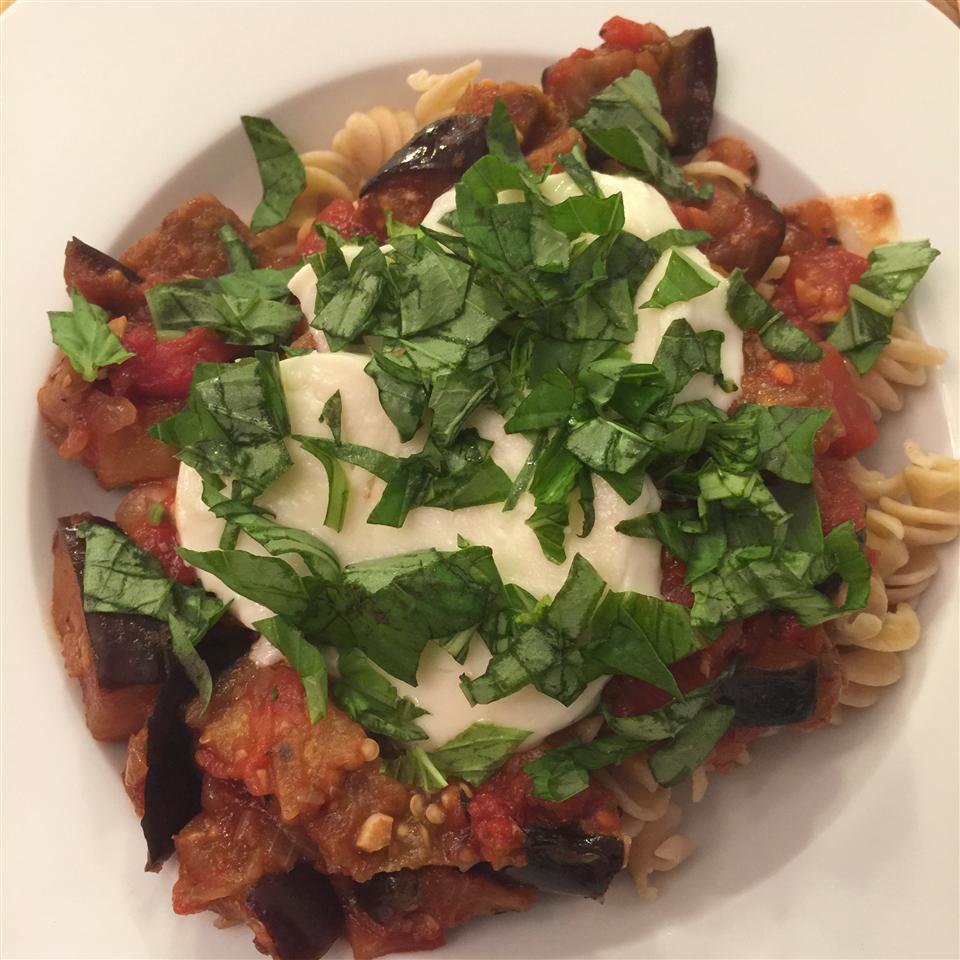 Mediterranean-Style Eggplant Pasta JessicaWilson