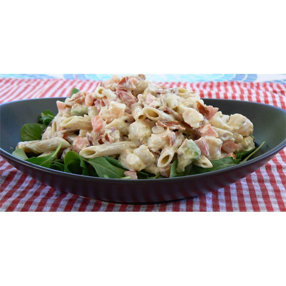 Shrimp Avocado Pasta Salad POLARBEE