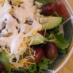 Blue Cheese, Avocado, and Grape Salad