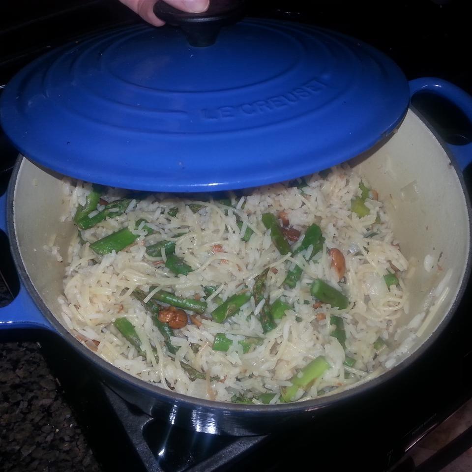 Asparagus Cashew Rice Pilaf Emily Gould