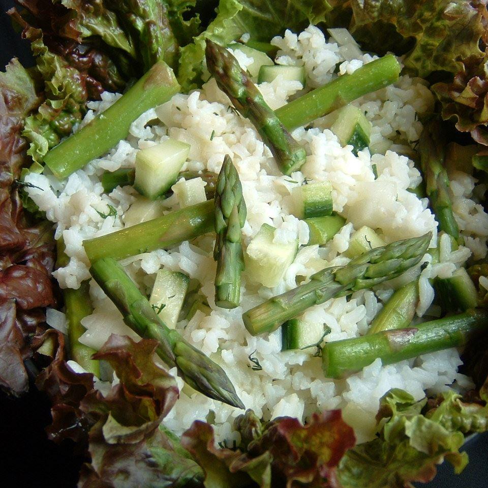 Rice, Asparagus and Cucumber Salad