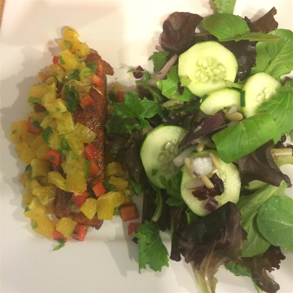 Sweet and Spicy Salmon with Grapefruit Salsa Dayna Joan
