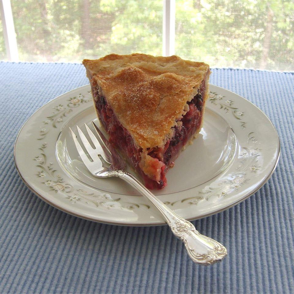 Berry Rhubarb Pie