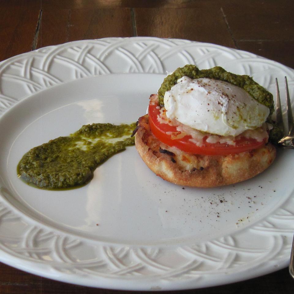 Poached Eggs Caprese