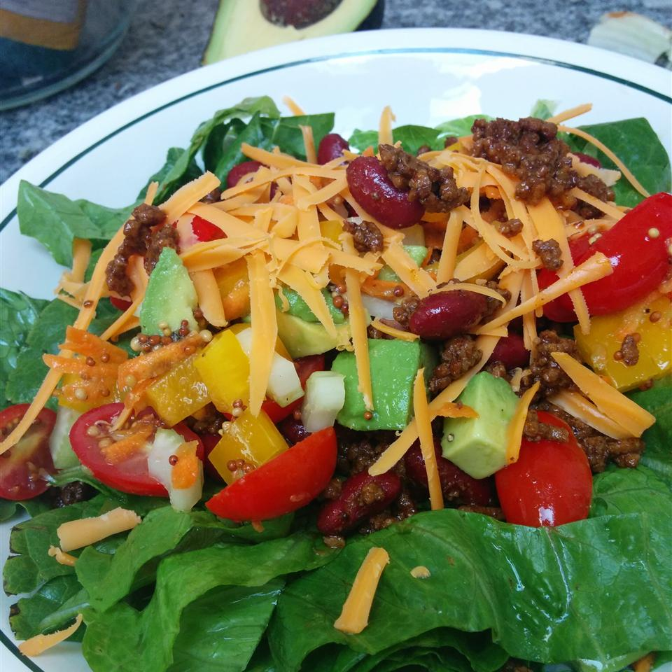 Taco Salad with Lime Vinegar Dressing