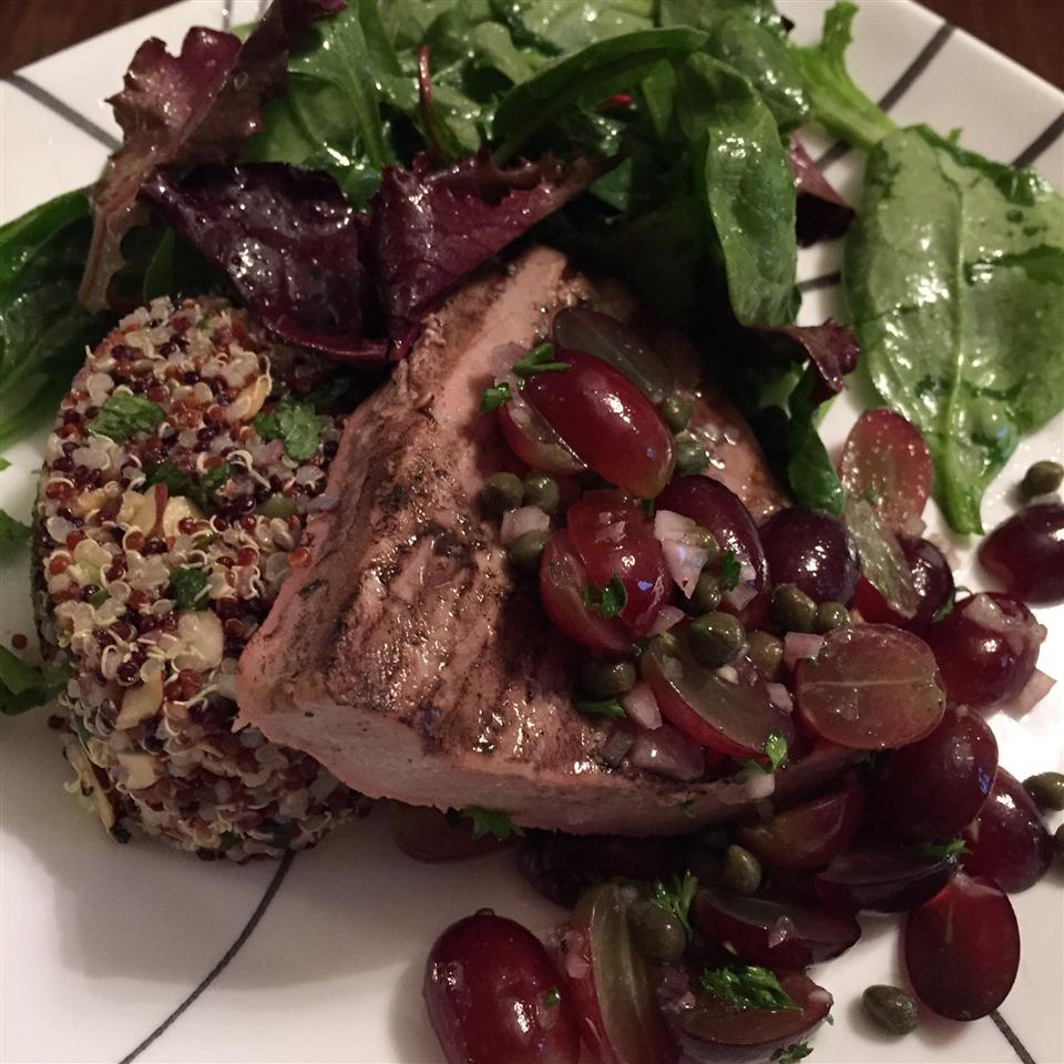 Grilled Tuna Steaks with Grape and Caper Salsa boko
