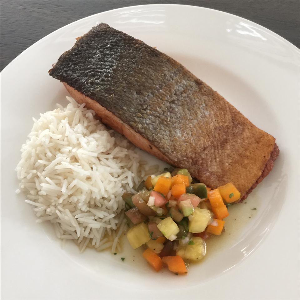Salmon with Pineapple Tomato Salsa Shelly Lee Suh