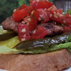 Mexican Turkey Burgers with Pico de Gallo Peach822